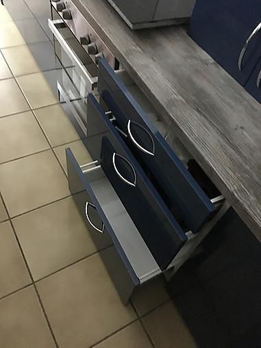 Hausmarke-Musterküche ikea küche in blau ...
