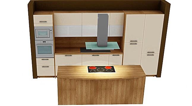 schmidt k chen musterk che k chenzeile mit kochinsel ausstellungsk che in schw bisch hall von. Black Bedroom Furniture Sets. Home Design Ideas