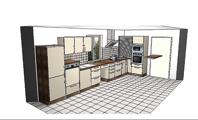 h cker musterk che einbauk che komplett mit ger ten ausstellungsk che in von. Black Bedroom Furniture Sets. Home Design Ideas