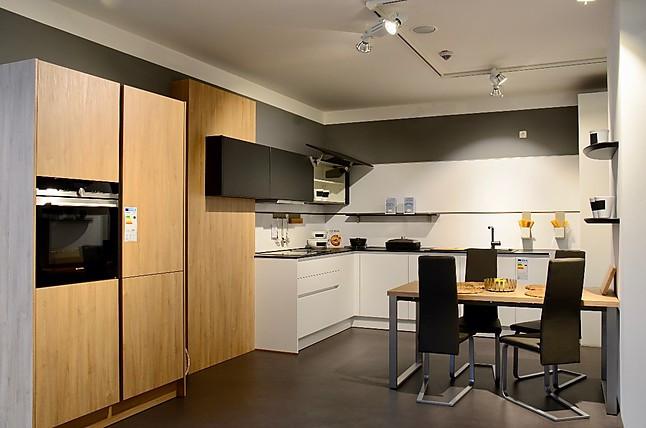 Schüller porto moderne l küche in kristallweiß