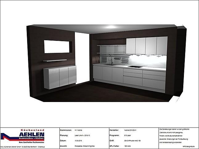 nobilia musterk che grifflose designk che laser line n. Black Bedroom Furniture Sets. Home Design Ideas