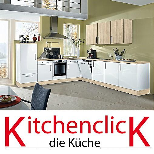 KitchenclicK-Musterküche Weiße L-Küche: Ausstellungsküche