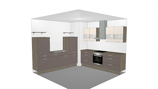 nobilia musterk che nobilia k che in hochglanz inkl e ger te neuware ab werk. Black Bedroom Furniture Sets. Home Design Ideas