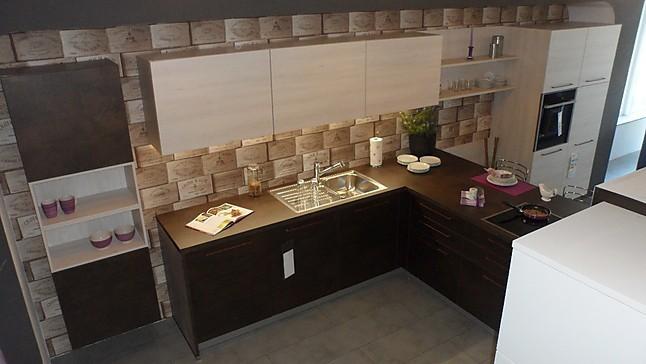 Nolte   S70 Stone, Kunststoff, Kupfer Oxid / M15 Manhatten, Kunststoff,  Kiruna Birke (Ausstellungsküche Nolte Küchen)