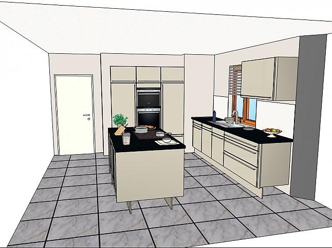 sch ller musterk che komplett neue moderne einbauk che mit insell sung ausstellungsk che in. Black Bedroom Furniture Sets. Home Design Ideas