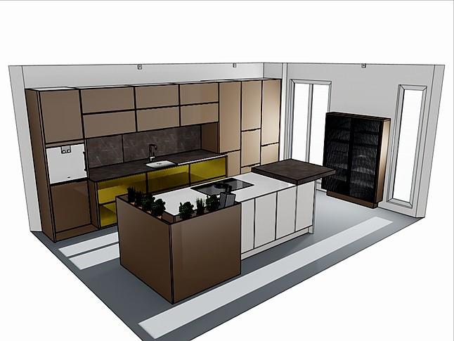 SieMatic-Musterküche Moderne Küche ohne Griff: Ausstellungsküche in ...
