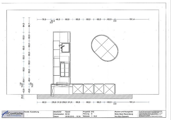 sch ller musterk che systhema c2 ausstellungsk che in ravensburg von miele maier. Black Bedroom Furniture Sets. Home Design Ideas