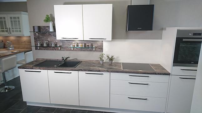 k chentreff musterk che trendige moderne k che in echtlackoberfl che magnolia matt. Black Bedroom Furniture Sets. Home Design Ideas