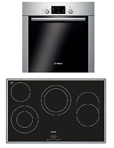 backofen hbd94ps58 backofen set mit gro em kochfeld bosch k chenger t von in. Black Bedroom Furniture Sets. Home Design Ideas