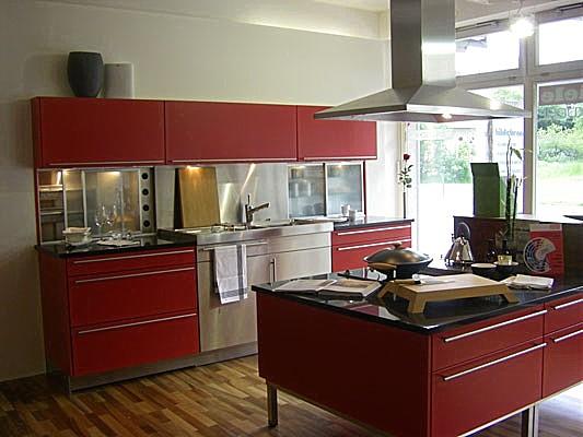 warendorf musterk che fronten grenadinerot. Black Bedroom Furniture Sets. Home Design Ideas