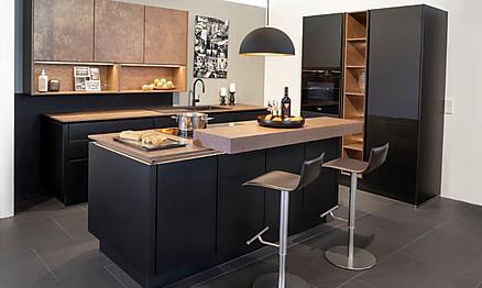 Moderne Küche in Schwarz