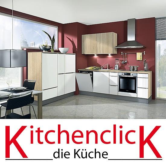 kitchenclick musterk che kompakte k chenzeile in wei ausstellungsk che in rastede von k chen. Black Bedroom Furniture Sets. Home Design Ideas