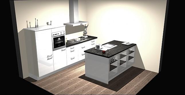 nobilia musterk che moderne k che mit insell sung und massiver granitarbeitsplatte. Black Bedroom Furniture Sets. Home Design Ideas