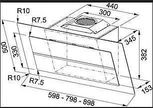 dunstabzug fma pro 905 maris schwarz maris pro fma pro 905 bk glas schwarz neu und original. Black Bedroom Furniture Sets. Home Design Ideas