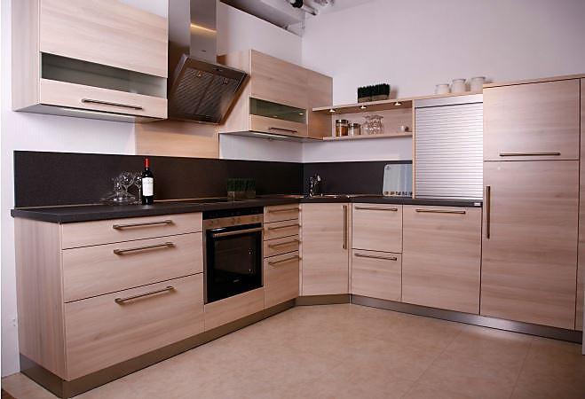 musterk che lim akazie natur nb ausstellungsk che in regensburg von pusch schreib gmbh. Black Bedroom Furniture Sets. Home Design Ideas