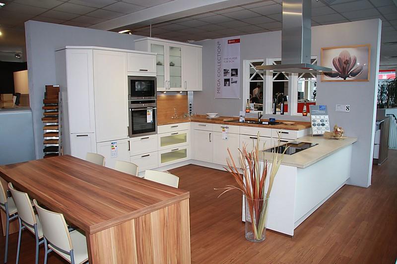 nolte musterk che klassisch matt cremefarben mk 08 incl ger te und apl ausstellungsk che in. Black Bedroom Furniture Sets. Home Design Ideas