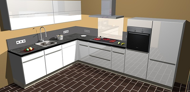 nobilia musterk che umplanbare l lack k che mit modernen aufgesetzten griffen inkl allem. Black Bedroom Furniture Sets. Home Design Ideas