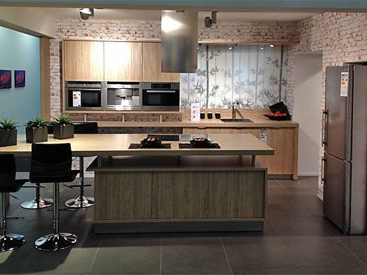 cube-musterküche moderne küche mit thekenlösung zum sonderpreis, Hause ideen