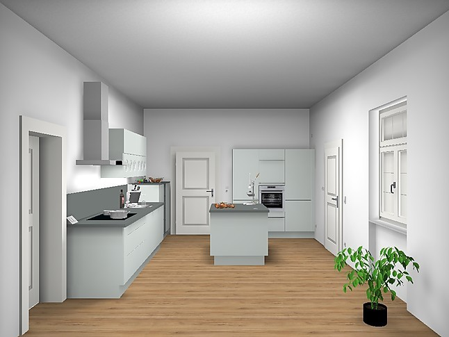 global k chen musterk che in kunstoff kristallgrau matt. Black Bedroom Furniture Sets. Home Design Ideas