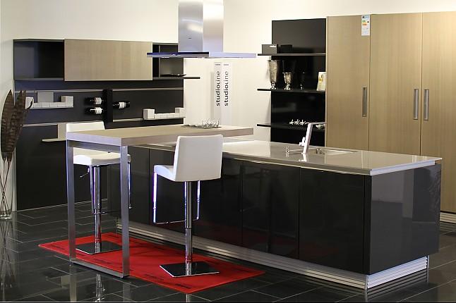 next125 musterk che lavaschwarz hochglanz lack abs eiche platin s gerauh furniert next125. Black Bedroom Furniture Sets. Home Design Ideas