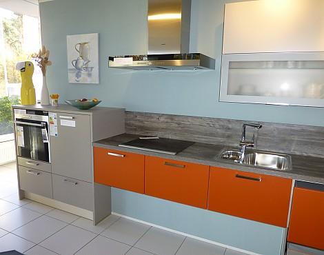 Küchenzeile farblich abgesetzt nova
