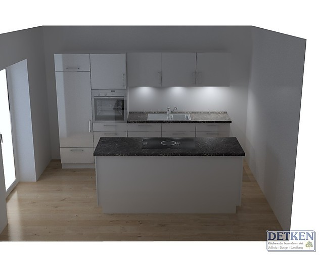 Nolte-Musterküche moderne Hochglanz Küche mit Neff Geräten und BORA ...