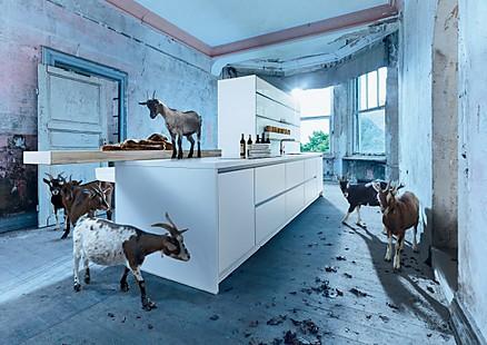 Schöne Designküchen in Weiß