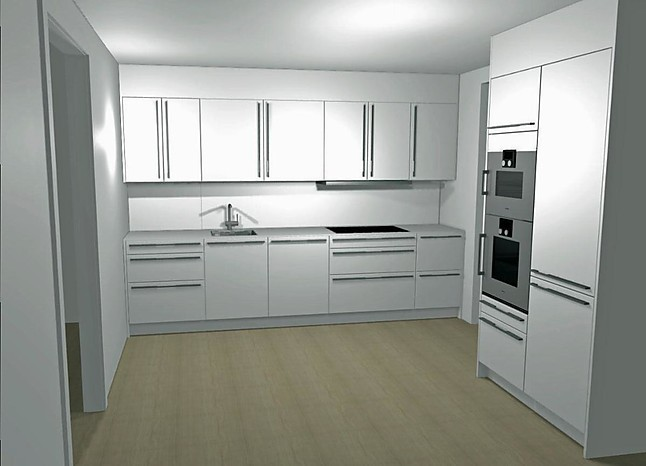 Küchen Bad Homburg siematic musterküche designer küche titanweiss matt sofort