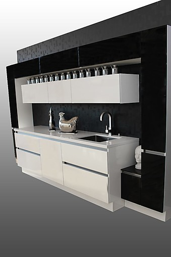 burger musterk che moderne designerk che mit hochglanzfront und silestone arbeitsplatte. Black Bedroom Furniture Sets. Home Design Ideas