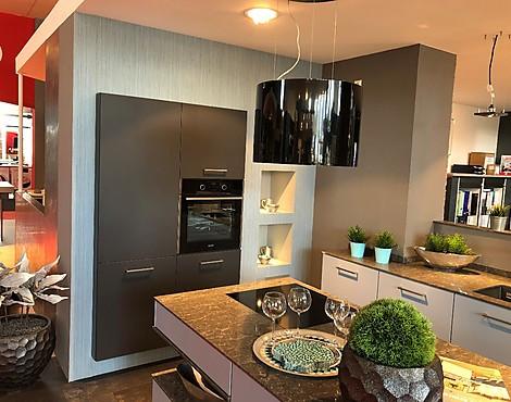 Moderne Inselküche Mit Granit   IP6800 Taubenblau