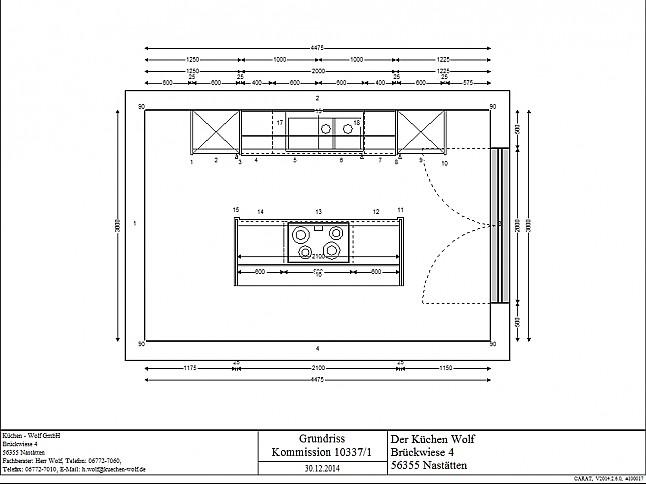 Elementa-Musterküche Elementa Grifflose Küche in Magnolie Hochglanz lackiert: Ausstellungsküche ...