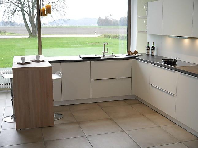Selektion D-Musterküche Moderne L-Küche mit Theke ...