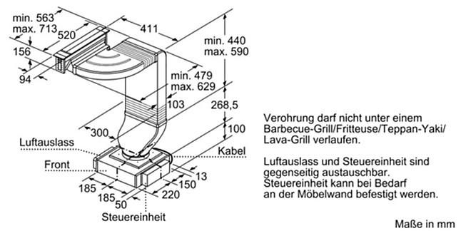 dunstabzug lf16va570 tischl fter muldenl fter. Black Bedroom Furniture Sets. Home Design Ideas