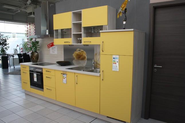 Nobilia   Speed 285 Gelb Softmatt Moderne Zeile In Sonnigem Gelb