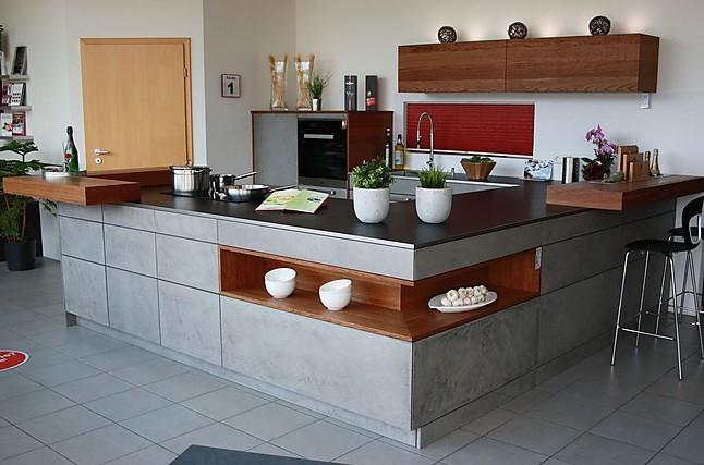 rempp musterk che beton front mit kupfereiche abgesetzt. Black Bedroom Furniture Sets. Home Design Ideas