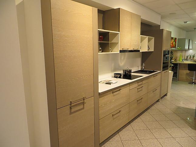 h cker musterk che moderne holzdekor k chenzeile mit vielen ausz gen in eiche furniert und. Black Bedroom Furniture Sets. Home Design Ideas
