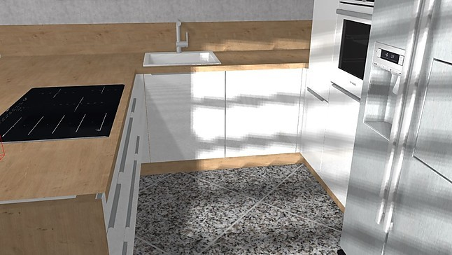 Awesome Küche Mit Side By Side Kühlschrank Gallery Ideas