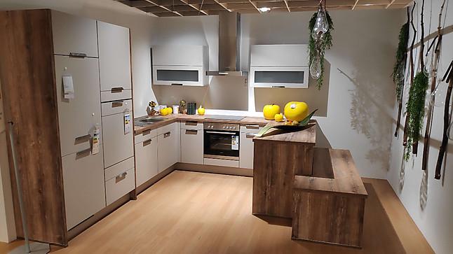 Nobilia-Musterküche U-Form Küche mit Sitzbank ...