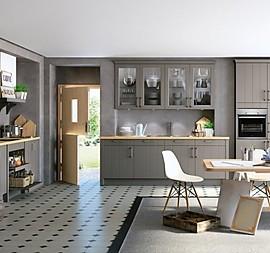 Landhausküche In Grau U0026 Eiche Optik