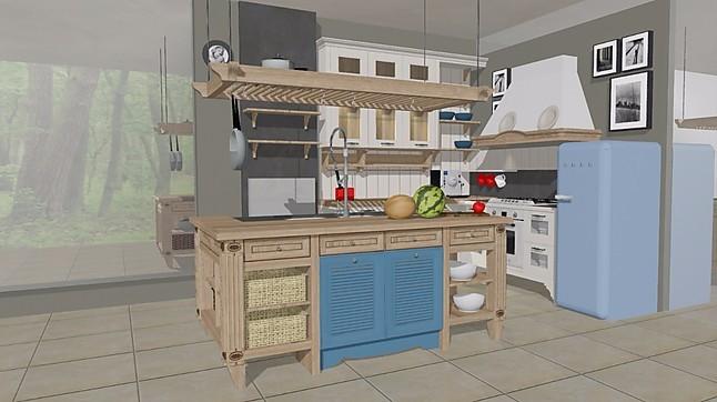 hausmarke musterk che k che country landhaus blau naturholz mit insel englisch. Black Bedroom Furniture Sets. Home Design Ideas