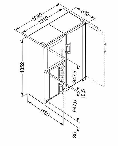 k hlschrank liebherr sbses7165 side by side k hlgefrierkombi eek a liebherr sbses7165 side by. Black Bedroom Furniture Sets. Home Design Ideas
