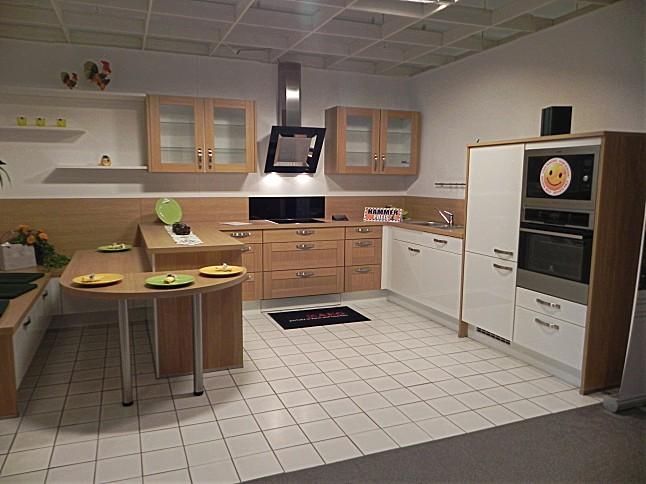 Moderne landhausküche nobilia  Nobilia-Musterküche moderne Landhausküche mit Echtholz Front in ...