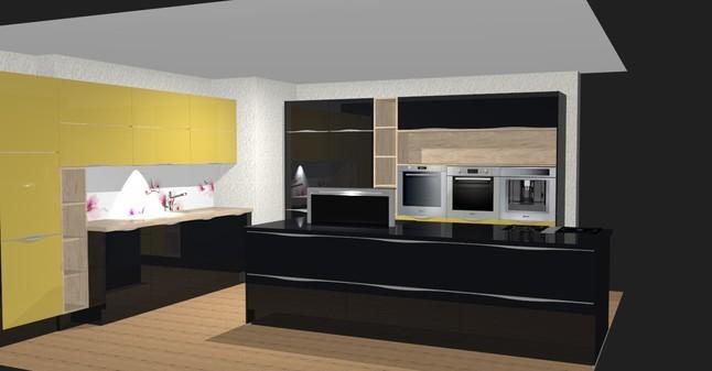 altano-Musterküche Riesengroße, zweifarbige Küche mit Kochinsel ... | {Alno küchen mit kochinsel 82}