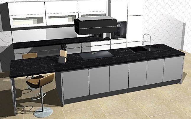 nobilia musterk che k che mit k cheninsel umplanbar lack laminat mit top ger ten von berbel. Black Bedroom Furniture Sets. Home Design Ideas