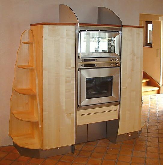 pfister naturholzk chen musterk che design vorratsschrank ausstellungsk che in angelbachtal. Black Bedroom Furniture Sets. Home Design Ideas