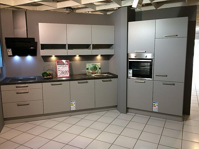 Nobilia musterkuche moderne kuche in steingrau for Küche steingrau
