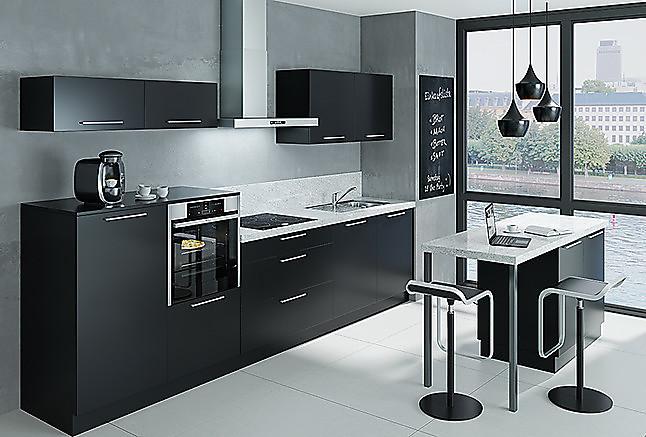 nolte musterk che k chenzeile mit insel und granit arbeitsplatten auch mit hochgl nzenden. Black Bedroom Furniture Sets. Home Design Ideas