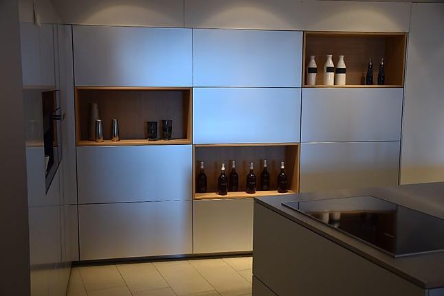 Warendorf-Musterküche moderne L-Küche mit Insel und Sideboard in ...