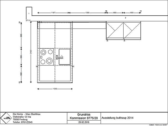 bulthaup musterk che laminat apfelholz ausstellungsk che. Black Bedroom Furniture Sets. Home Design Ideas
