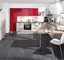 nobilia musterk che seidengrau matt ausstellungsk che in. Black Bedroom Furniture Sets. Home Design Ideas